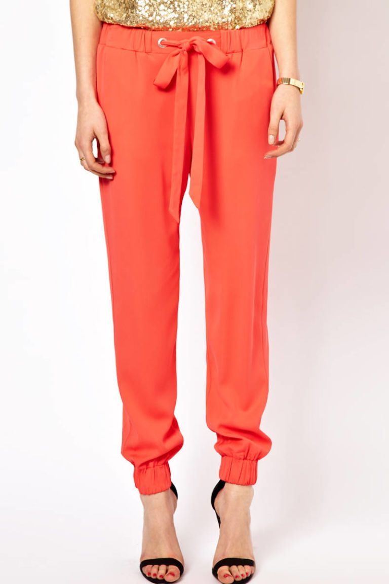 french connection orange slouchy pants