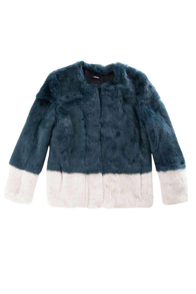 funktional color block fur jacket