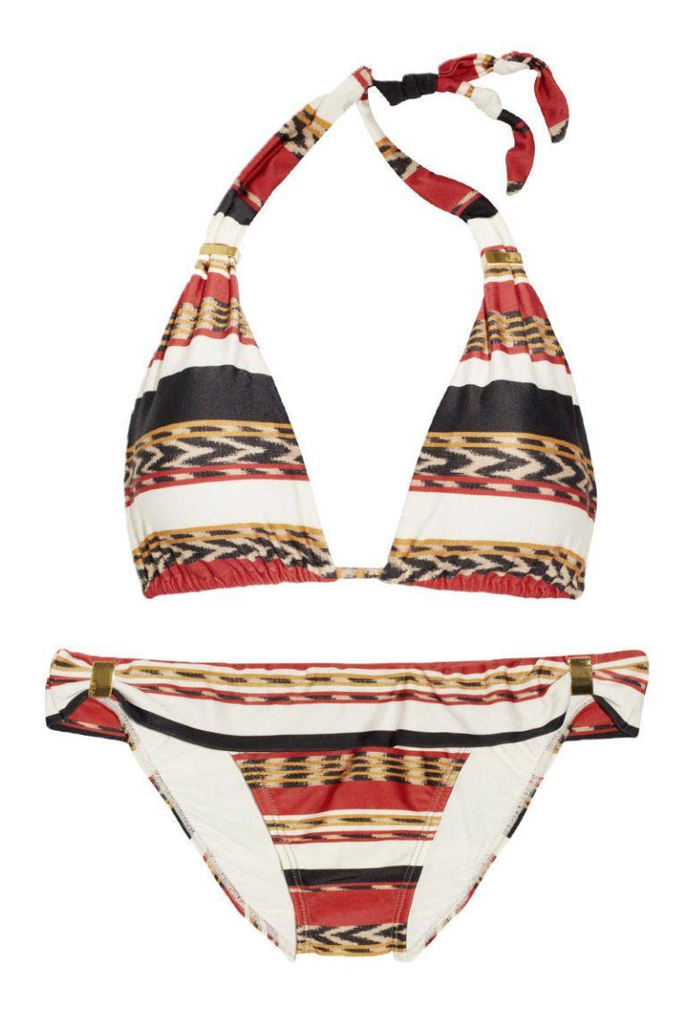 vix angola printed halterneck bikini
