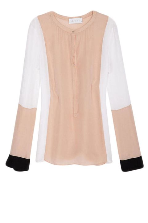 the color blocked shirt