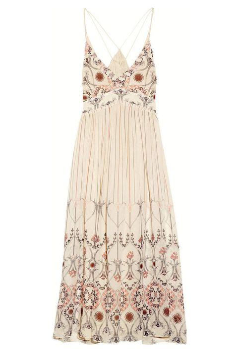 vanessa bruno printed silk dress