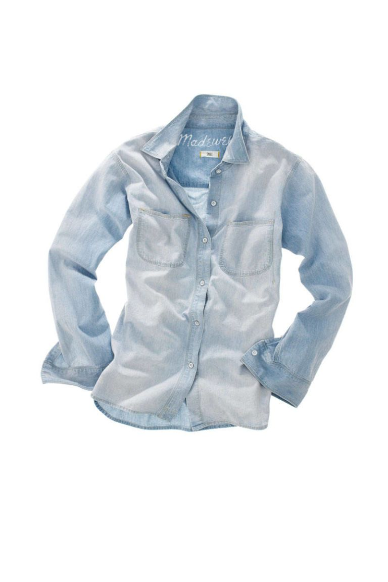 madewell perfect chambray ex boyfriend shirt