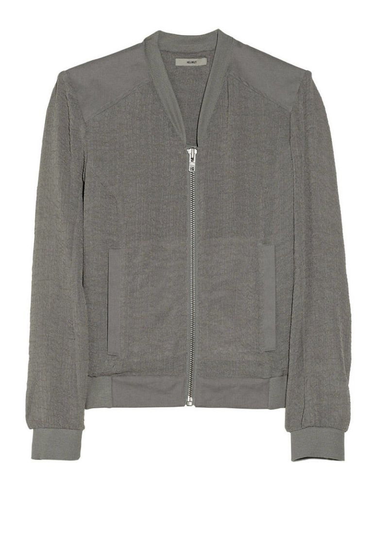 helmut helmut lang breeze crinkled gauze bomber jacket