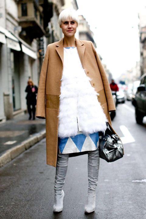 Clothing, Textile, Outerwear, Street, Bag, Coat, Style, Street fashion, Fashion accessory, Jacket,