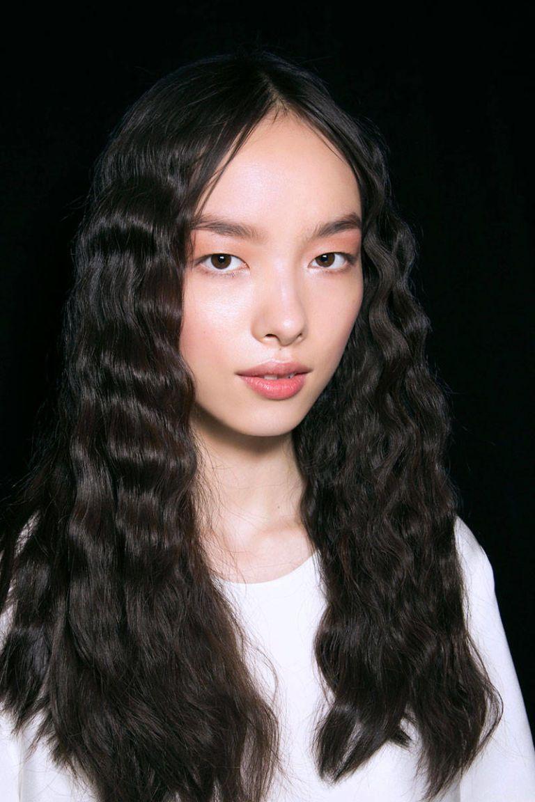 five unwashed hairstyles - messy bun, beachy waves, braid