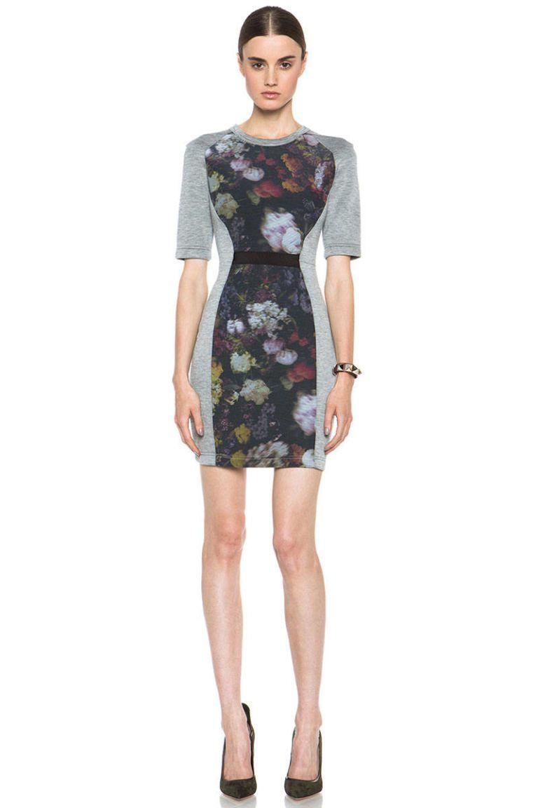 markus lupfer floral contour dress