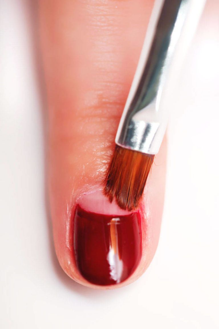 How To Create A Half Moon Manicure In 4 Easy Steps Half Moon