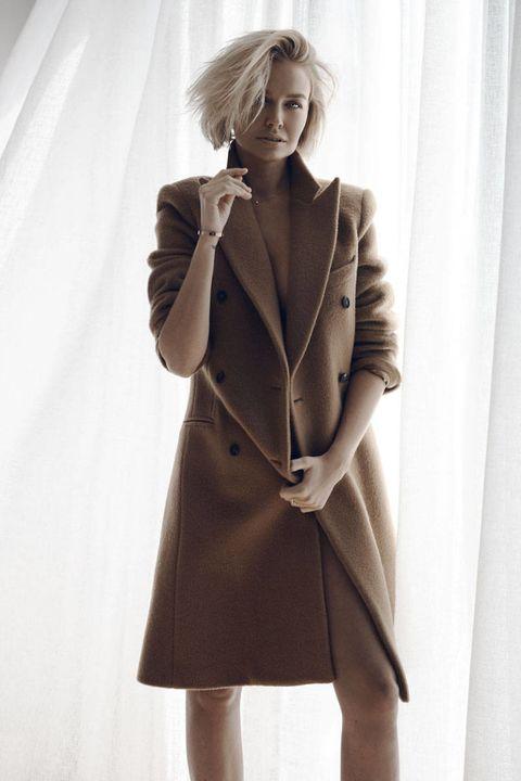 Coat, Sleeve, Collar, Shoulder, Joint, Standing, Outerwear, Style, Formal wear, Blazer,