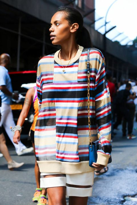 Sleeve, Human body, Shoulder, Street, Pattern, Style, Street fashion, Jewellery, Bag, Fashion,