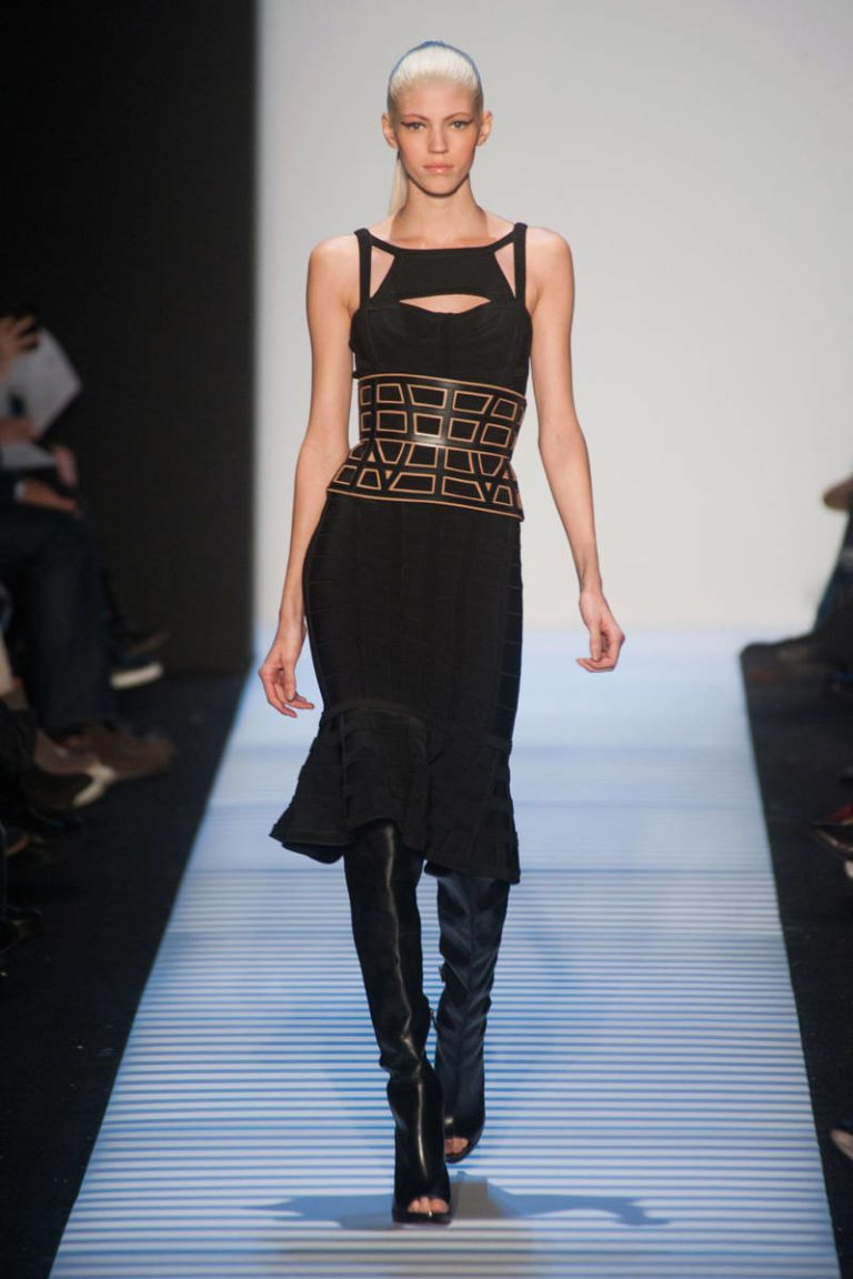 herve leger by max azria fall 2014 ready-to-wear photos