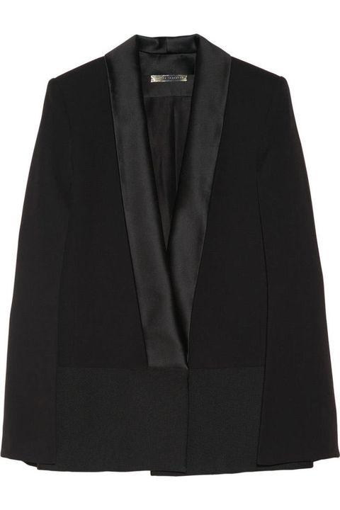 Clothing, Coat, Collar, Sleeve, Textile, Outerwear, Blazer, Fashion, Black, Clothes hanger,