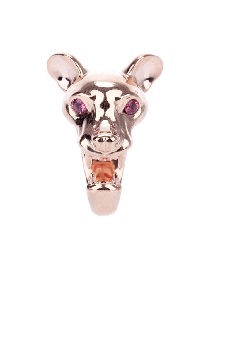 violet darkling animal ring