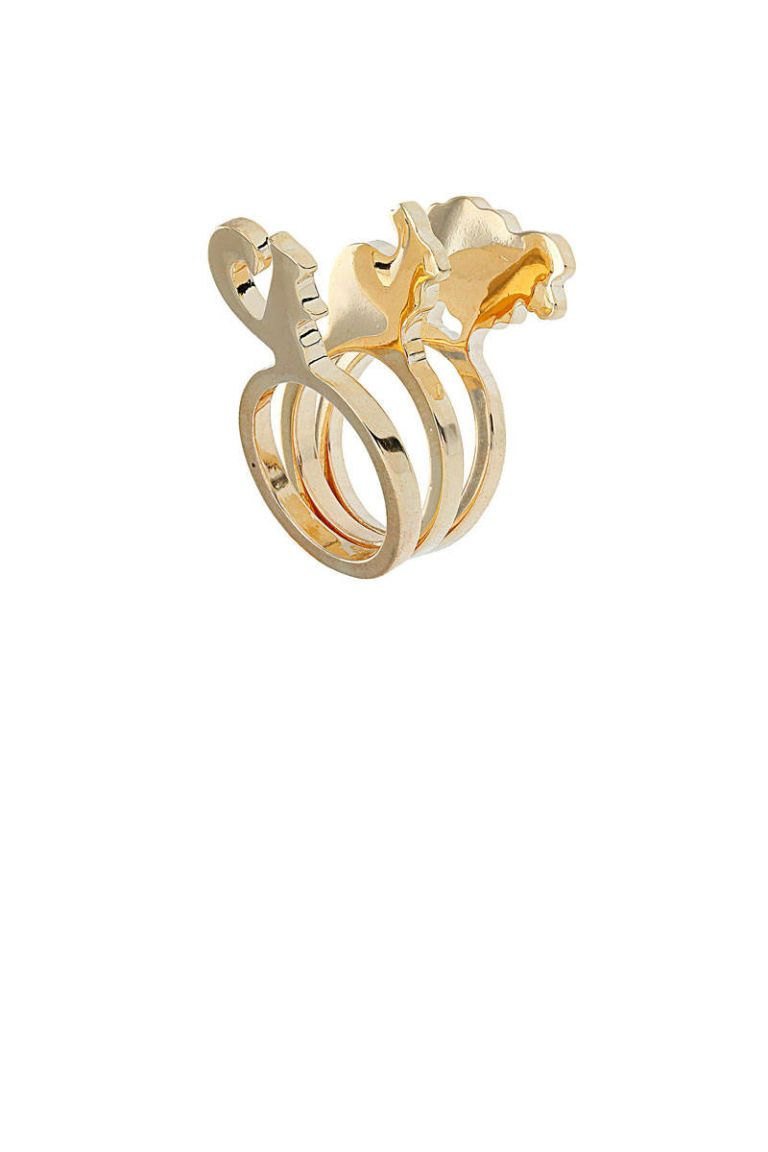 topshop animal stack ring