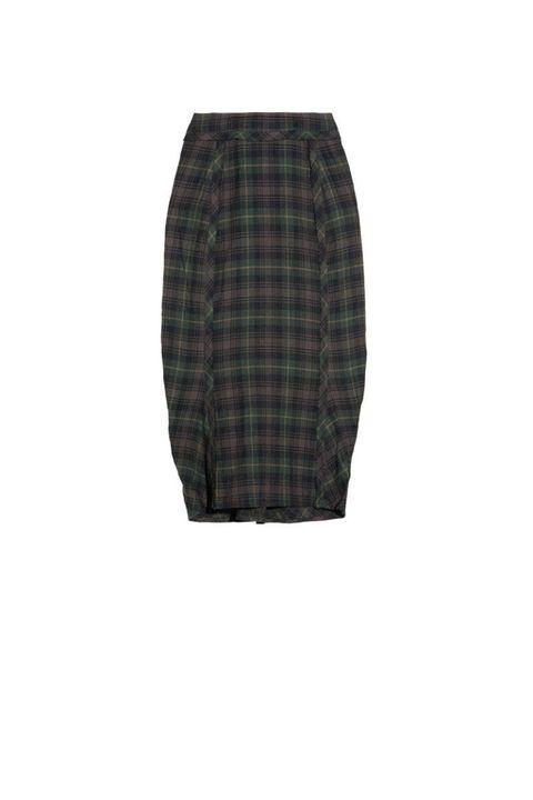 elizabeth and james plaid cotton blend skirt