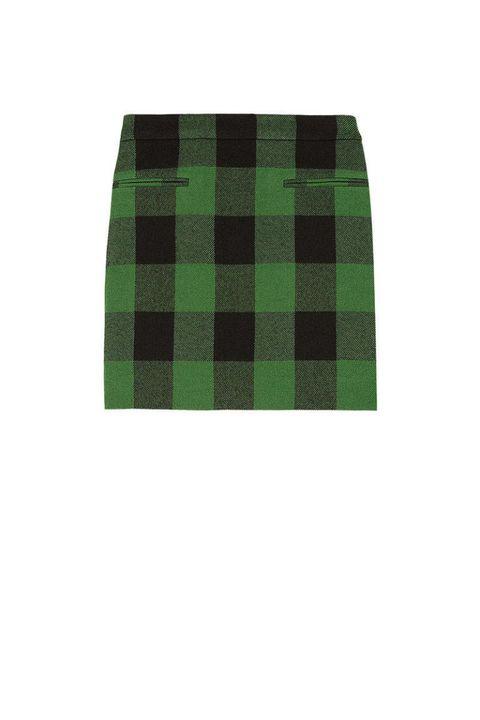 stella mccartney tive plaid wood skirt