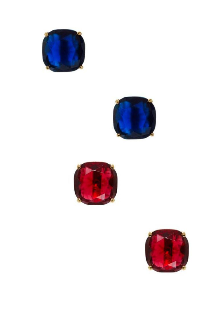 kate spade red and blue earrings