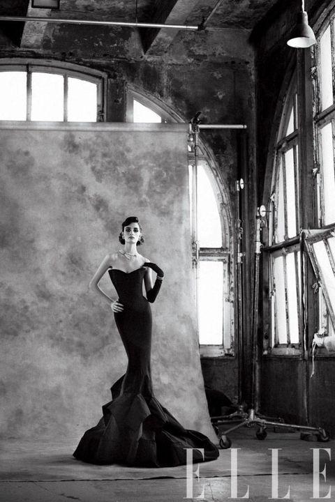 elle january 2012 donna karan dress
