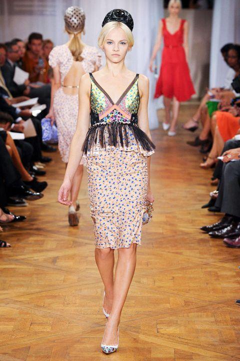 nina ricci spring 2012 runway peplum dress