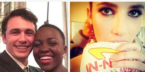 Through Their Own Eyes: Celebrities Instagram the Golden Globes