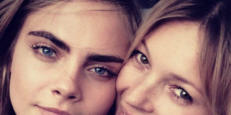 Kate Moss and Cara Delevigne Take a Selfie Together