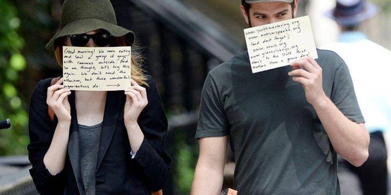Andrew Garfield, Emma Stone Use Paparazzi to Promote Charities