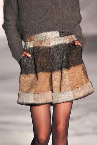 Clothing, Brown, Sleeve, Human leg, Textile, Joint, Standing, Outerwear, Waist, Style,