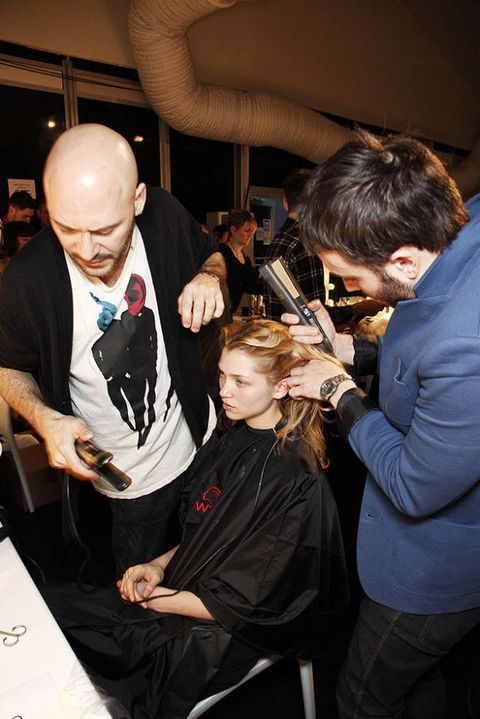 Emilio morena FALL 2011 RTW backstage 002