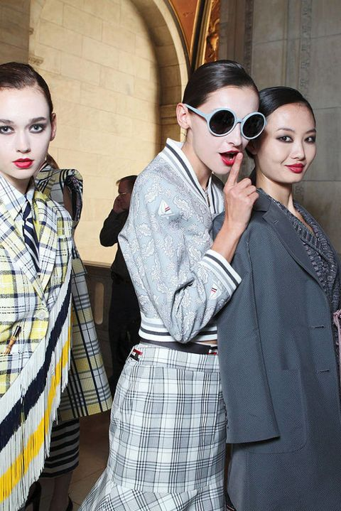 Thom brown SPRING 2012 RTW backstage 002