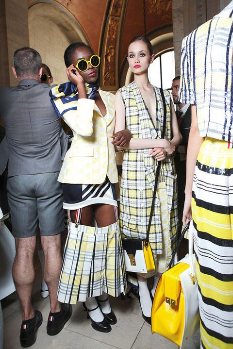 Thom brown SPRING 2012 RTW backstage 003