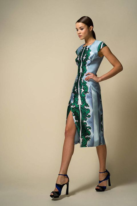 Clothing, Sleeve, Human leg, Shoulder, Dress, Textile, Standing, Joint, One-piece garment, Style,