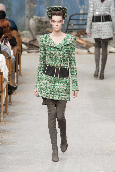 Clothing, Leg, Textile, Joint, Winter, Style, Fashion show, Pattern, Street fashion, Fashion,