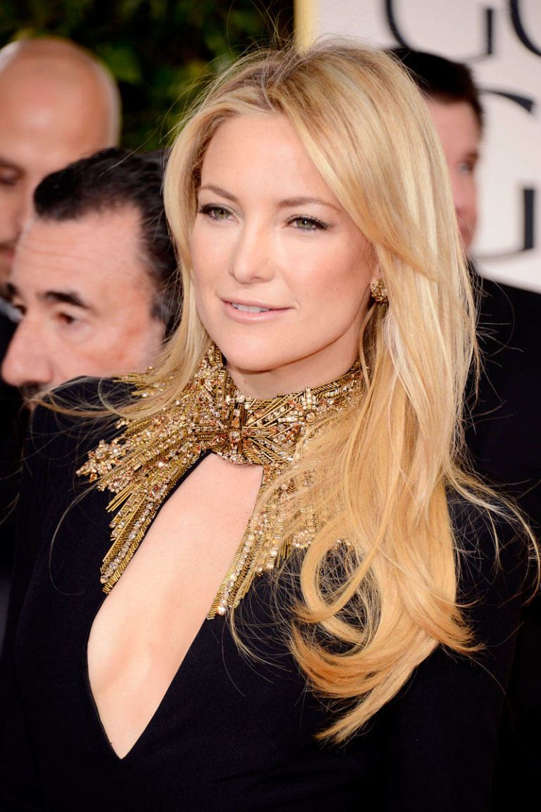 golden globes 2013 hair and makeup, kate hudson
