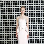 Clothing, Dress, Shoulder, Joint, Gown, Bridal clothing, Formal wear, Style, Fashion model, Wedding dress,