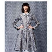 Clothing, Dress, Sleeve, Textile, Pattern, One-piece garment, Style, Fashion, Grey, Costume design,