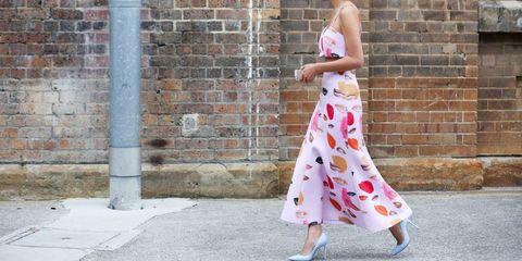 Clothing, Brick, Shoulder, Style, Brickwork, Street fashion, Waist, One-piece garment, Sleeveless shirt, Day dress,