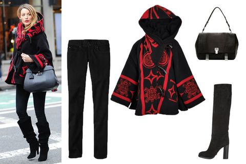 Sleeve, Textile, Outerwear, Costume accessory, Street fashion, Bag, Fashion, Carmine, Fictional character, Costume,
