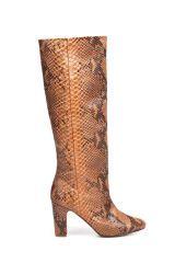 Zara snakeskin wide heel boot