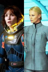 Noomi Rapace Charlize Theron Prometheus