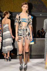 Clothing, Leg, Shoulder, Fashion show, Human leg, Joint, Outerwear, Dress, Fashion model, Style,