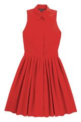 Product, Sleeve, Dress, Red, Textile, White, Collar, Pattern, Orange, Style,