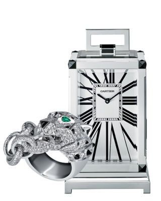 Cartier ring and clock