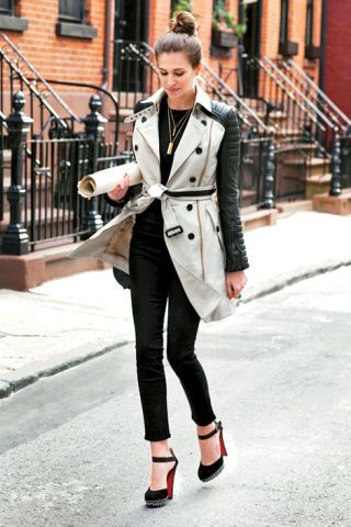 Clothing, Collar, Sleeve, Textile, Outerwear, Coat, Style, Street fashion, Formal wear, Stairs,