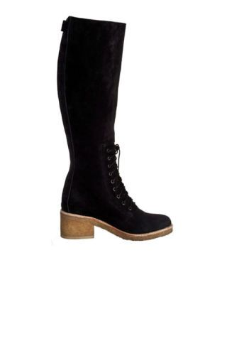 Belle Sigerson Morrison black suede lace-up boots