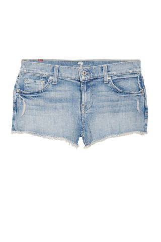 7 For All Mankind low-rise frayed shorts