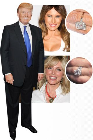 who got the better ring celebrity engagement rings - Melania Trump Wedding Ring