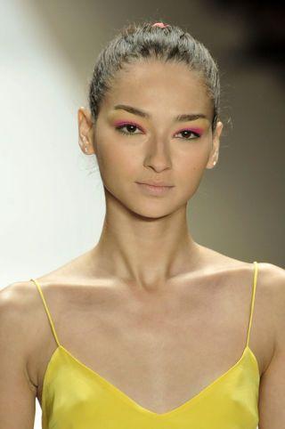 Clothing, Hair, Ear, Lip, Hairstyle, Yellow, Eyebrow, Eyelash, Style, Beauty,
