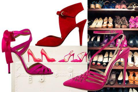 Footwear, Brown, Product, Shoe, Red, Pink, Magenta, Purple, High heels, Beauty,