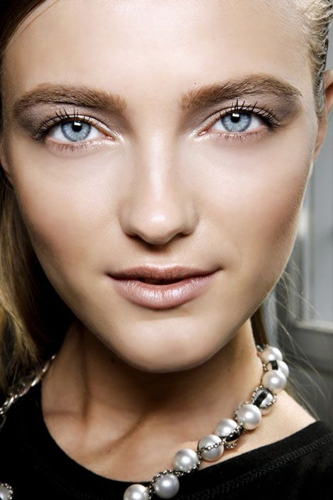 Model with blue eyes