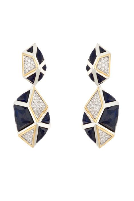 Kara Ross 2-part pyramid earrings