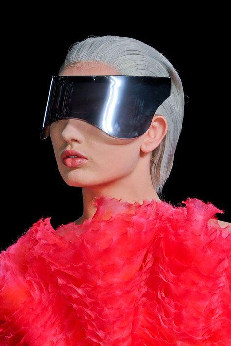 March 6: Alexander McQueen visor
